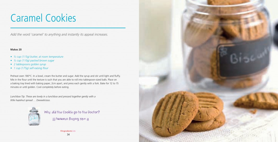 4 Ingredients Kids l Colour l Caramel Cookies