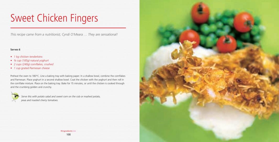 4 Ingredients Kids l Colour l Sweet Chicken Fingers