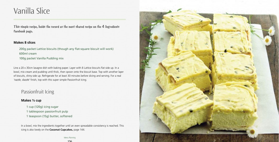 4 Ingredients Menu Planning l Vanilla Slice