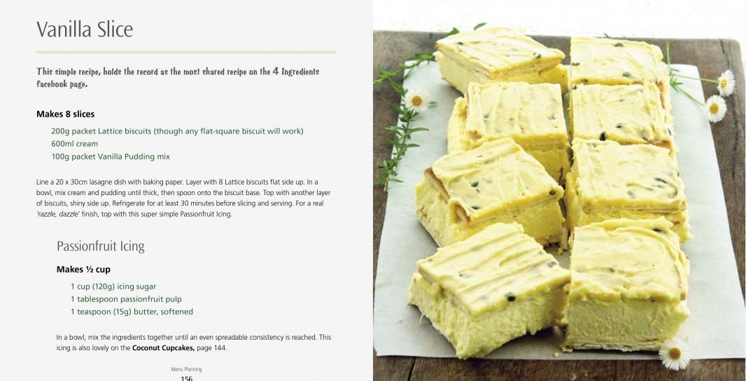 4 Ingredients Menu Planning l Vanilla Slice