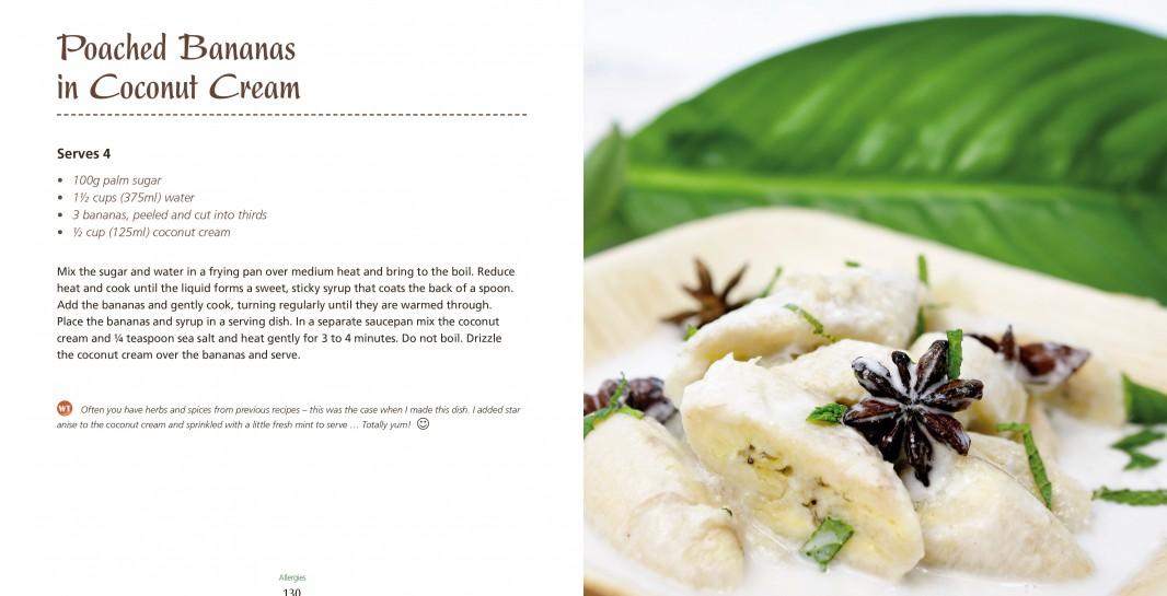 4 Ingredients Allergies Poached Bananas in Coconut Cream