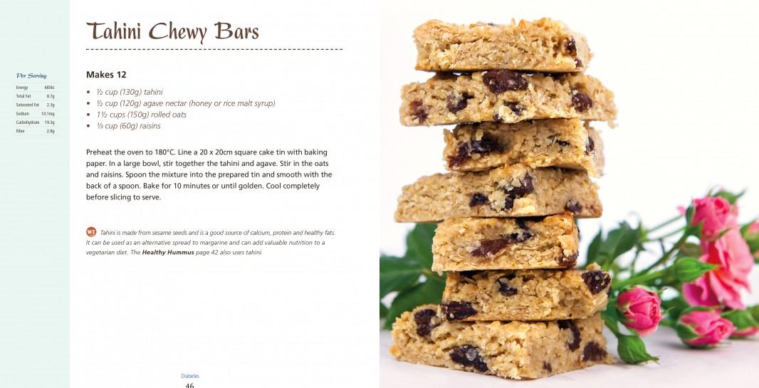 4 Ingredients l Diabetes Tahini Chewy Bars