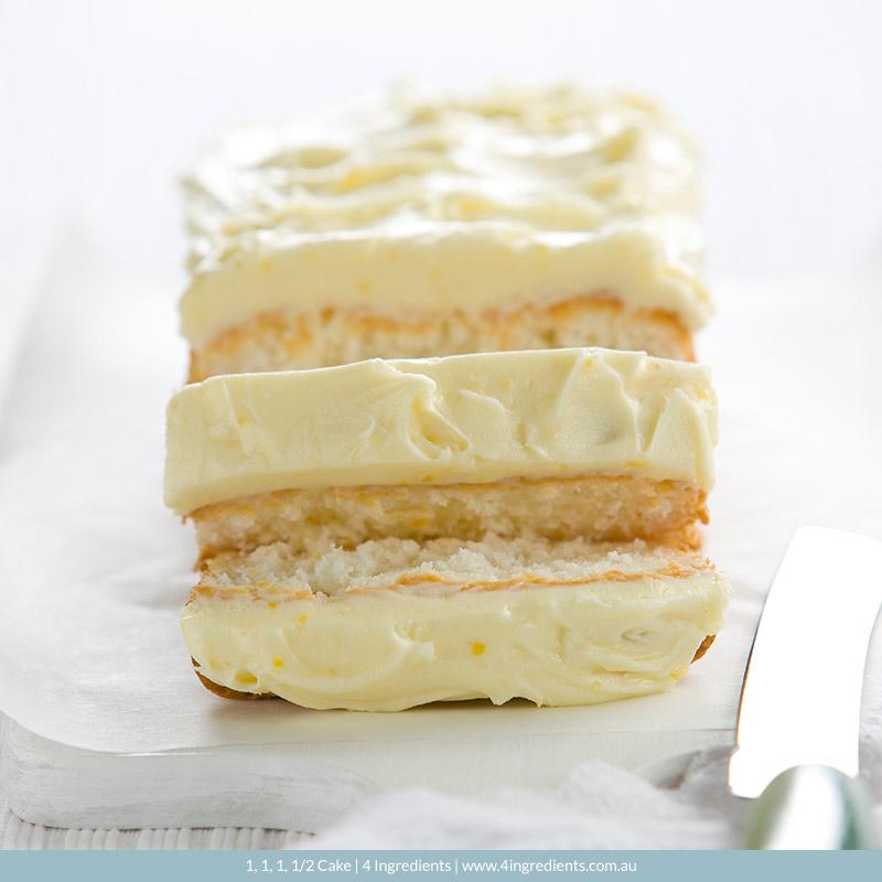 1, 1, 1, 1/2 Cake   4 Ingredients