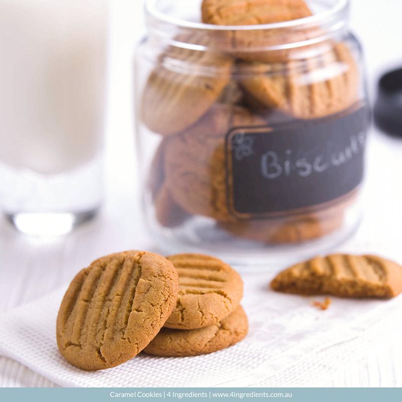 Caramel Biscuits l 4 Ingredients