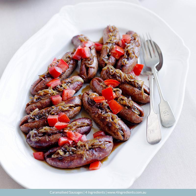 Caramelised Sausages l 4 Ingredients