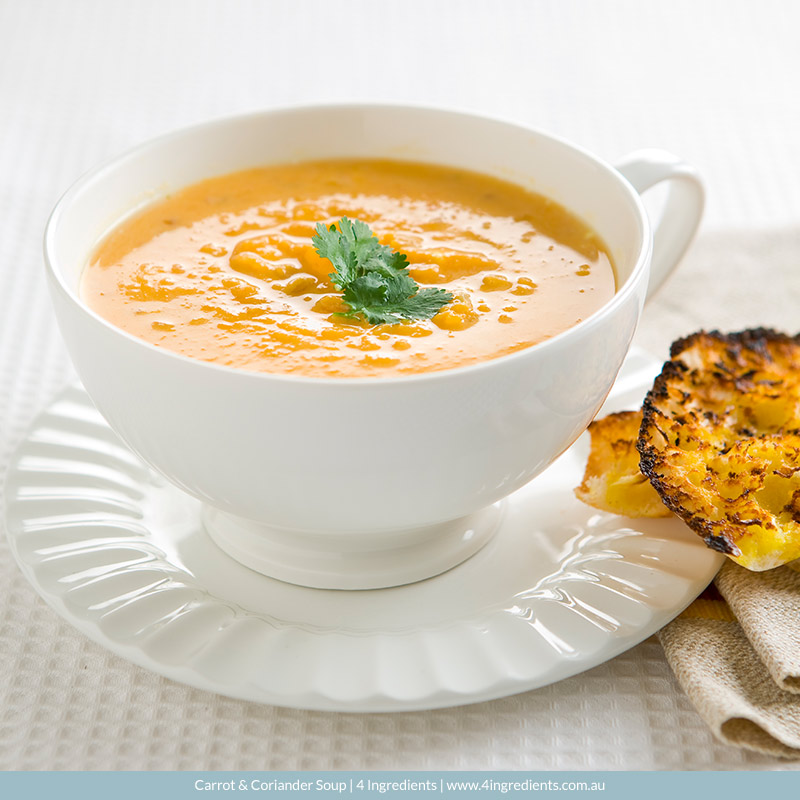 Carrot Coriander Soup | 4 Ingredients