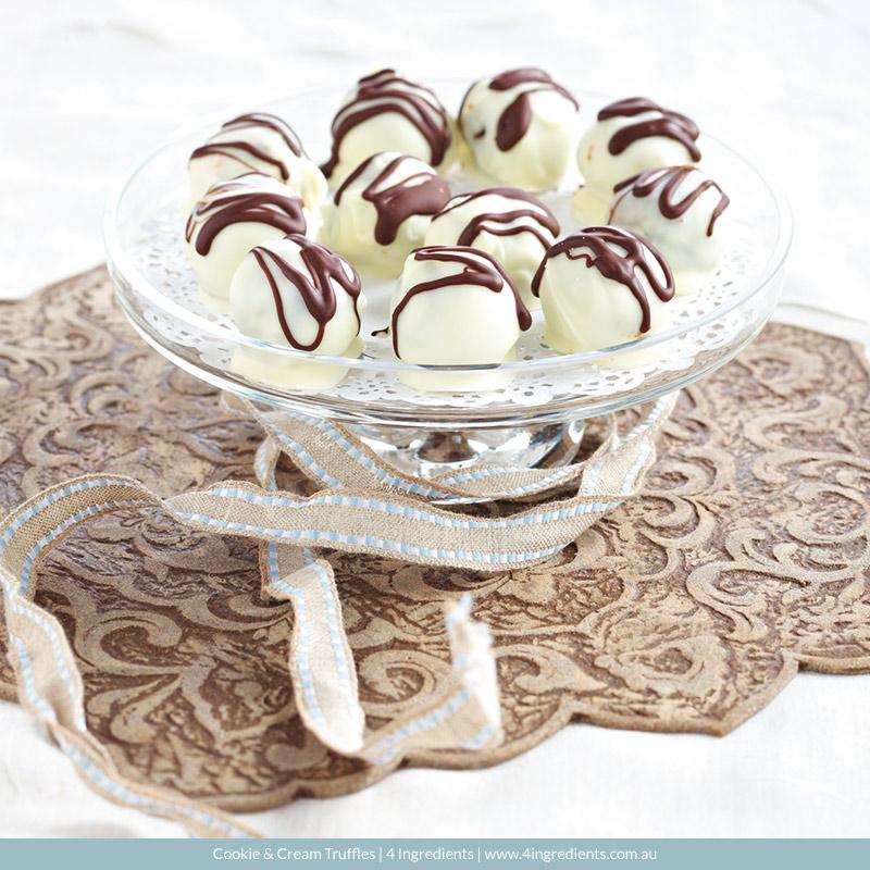 Cookie & Cream Truffles   4 Ingredients