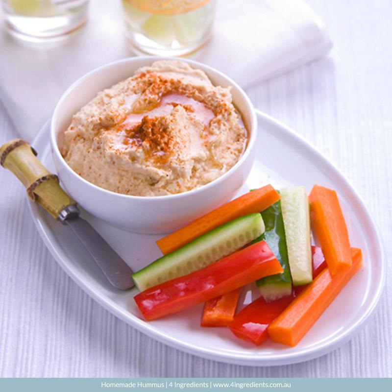 Homemade Hummus l 4 Ingredients