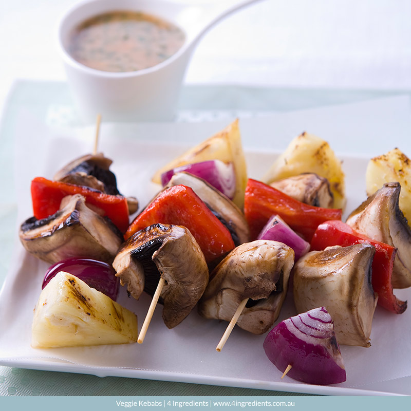 Veggie Kebabs | 4 Ingredients