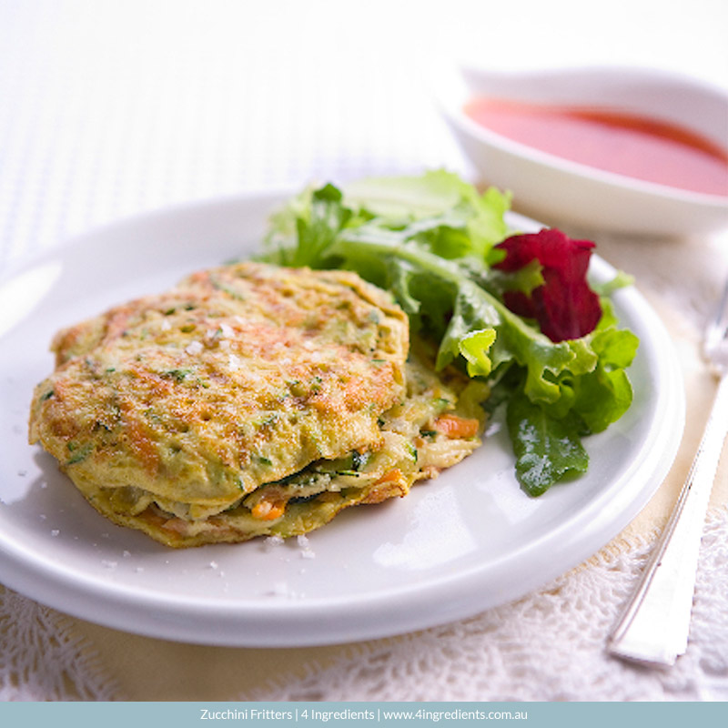 Zucchini Fritters l 4 Ingredients