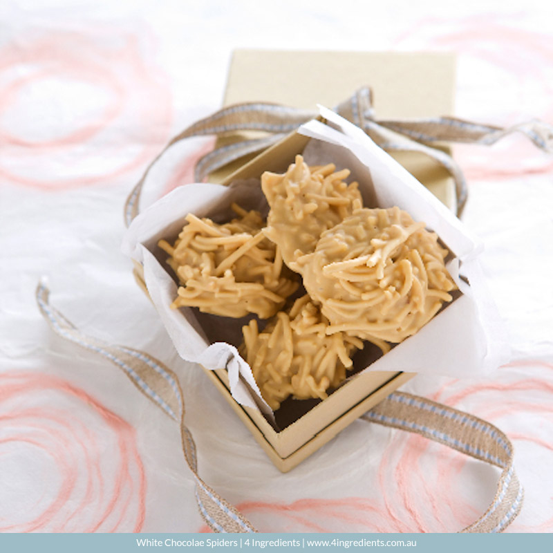 White Chocolate Spiders   4 Ingredients