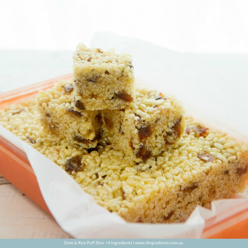 Date and Rice Puff Slice