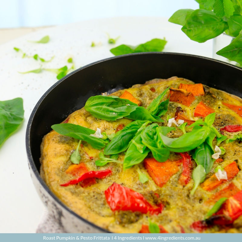 4ING l Recipe Image l Roast Pumpkin and Pesto Frittata