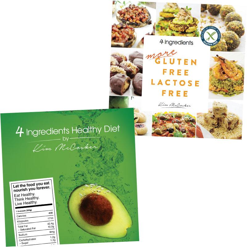 4 Ingredients Healthy Diet & 4 Ingredients Gluten Free Lactose Free