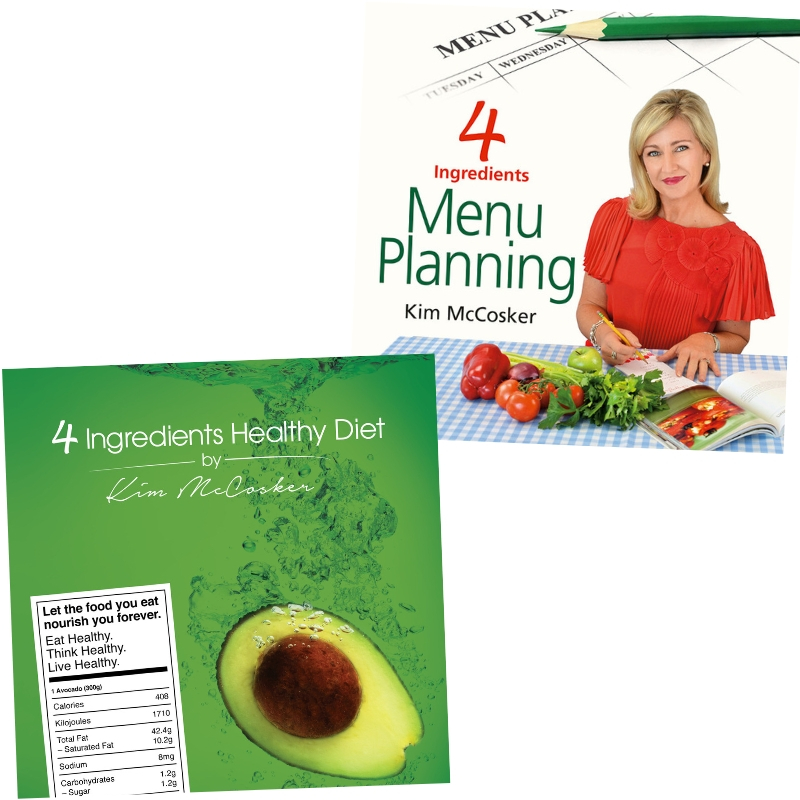 4 Ingredients Healthy Diet + 4 Ingredients Menu Planning