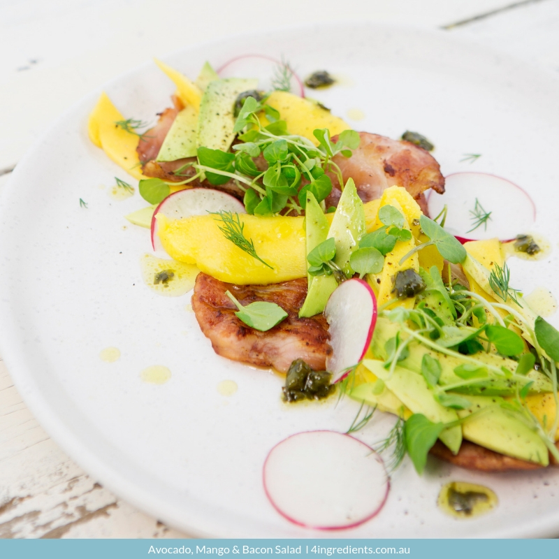 Avocado, Mango & Bacon Salad