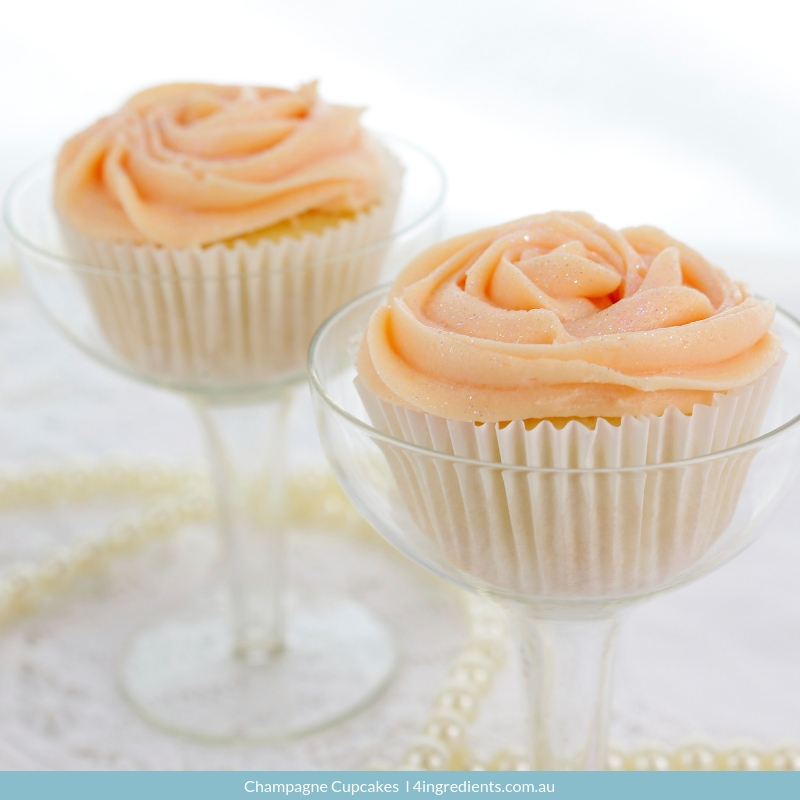 champagne cupcakes - valentines night in