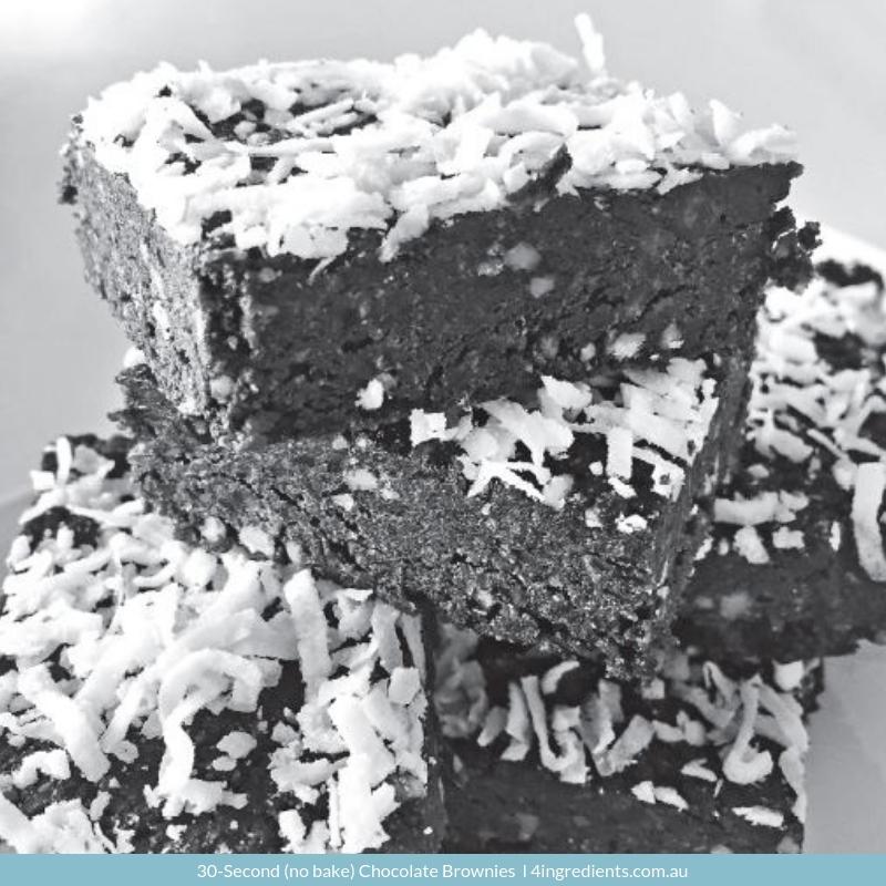 3-Second (no bake) Chocolate Brownies