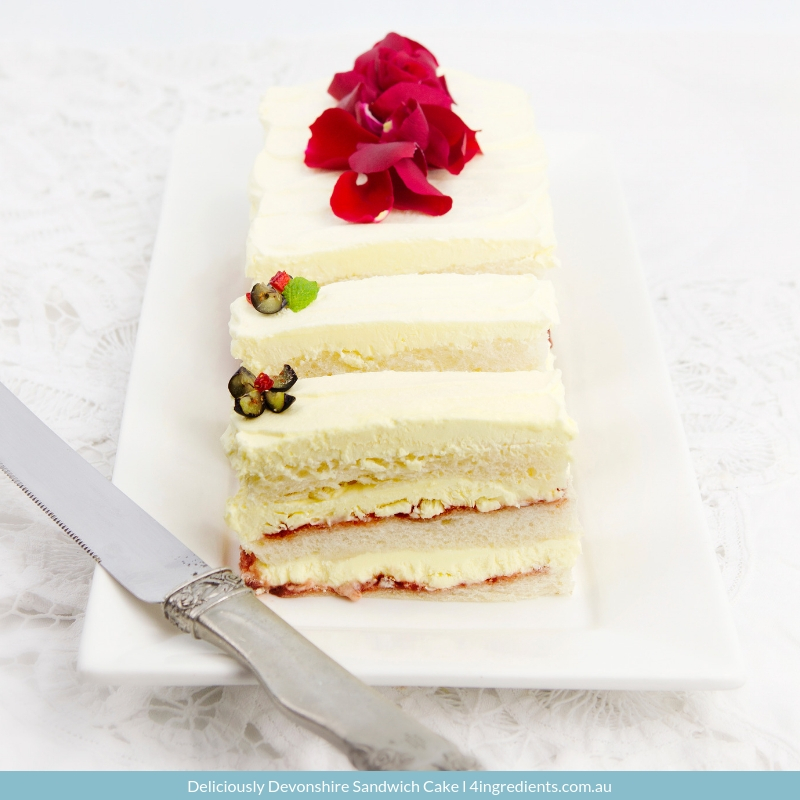 Deliciously Devonshire Sandwich Cake