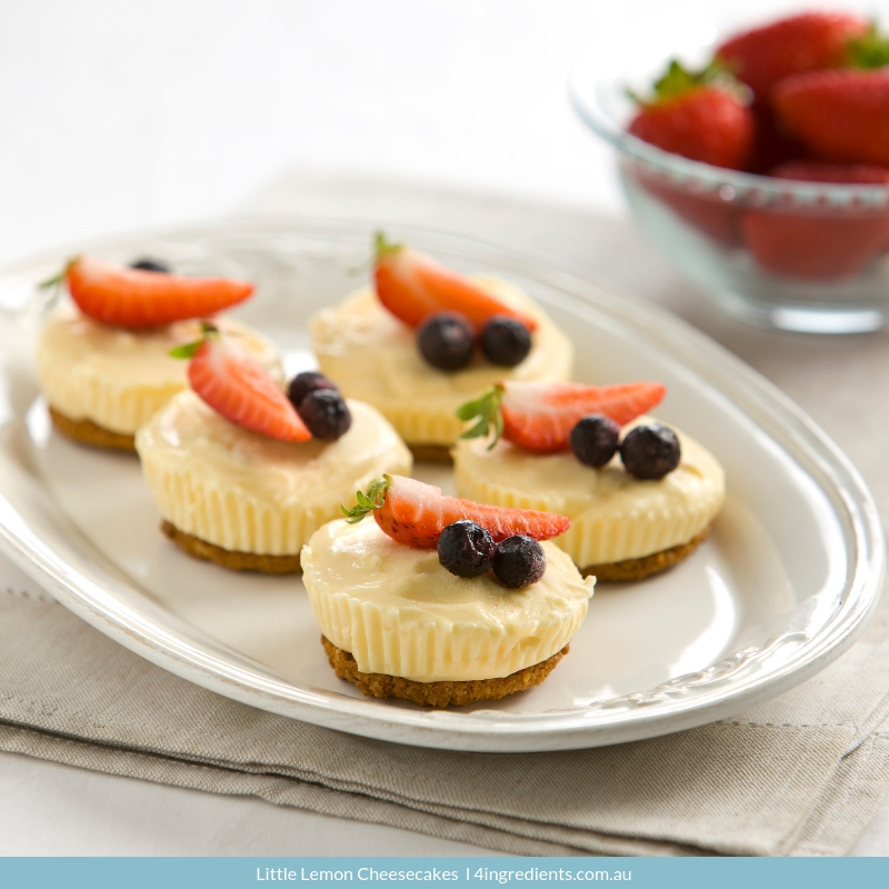4ING l Recipe Image l Little Lemon Cheesecakes