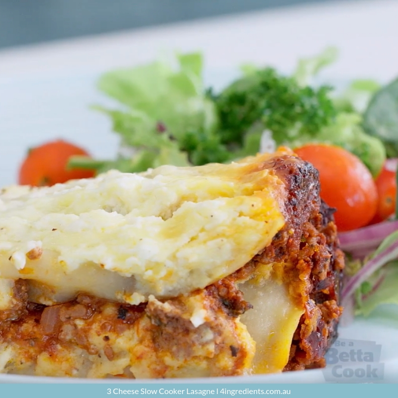 3 Cheese Slow Cooker Lasagne Family Dinner