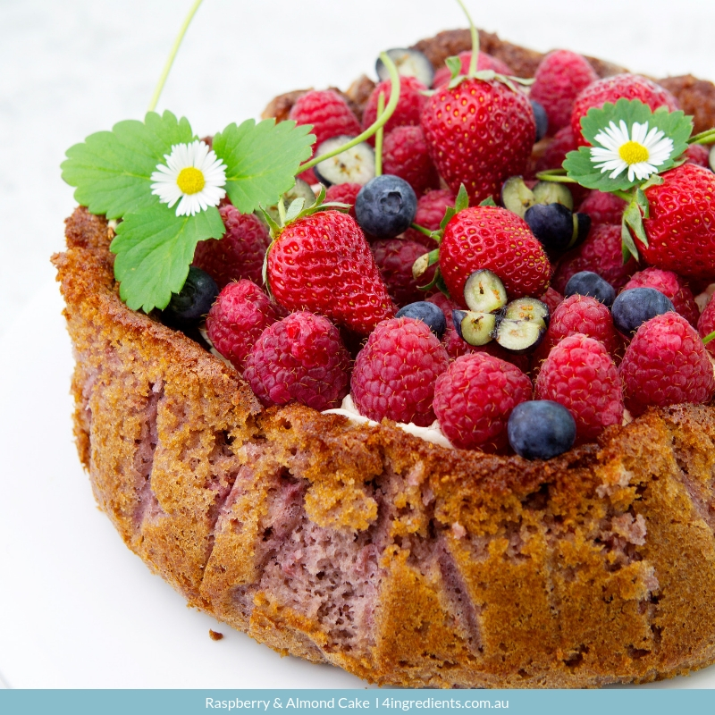 Raspberry & Almond Cake