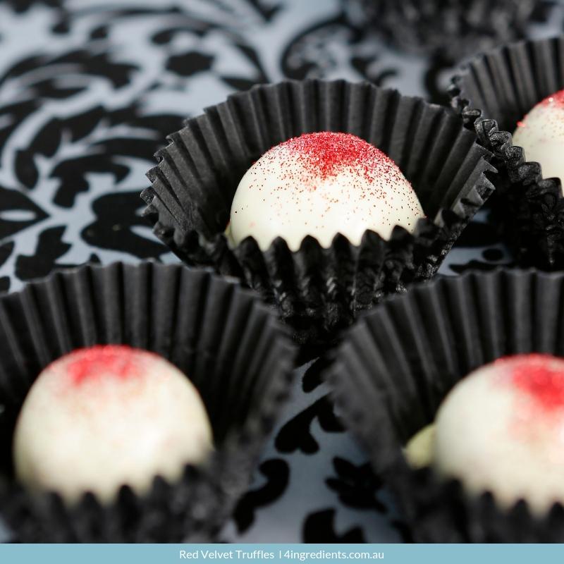 Red Velvet Truffles   Valentine's Day Chocolate