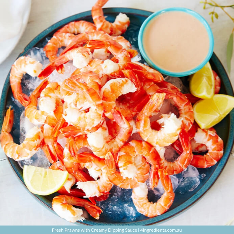 Fresh Prawns with Creamy Dipping Sauce