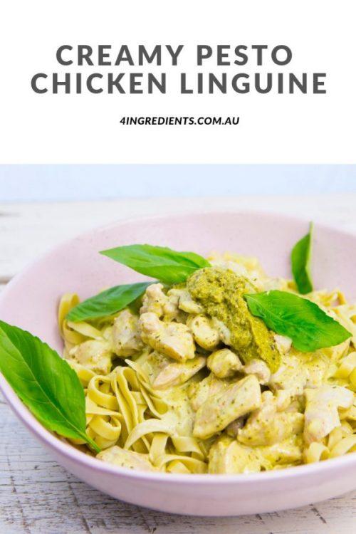 Creamy Pesto Chicken Linguine