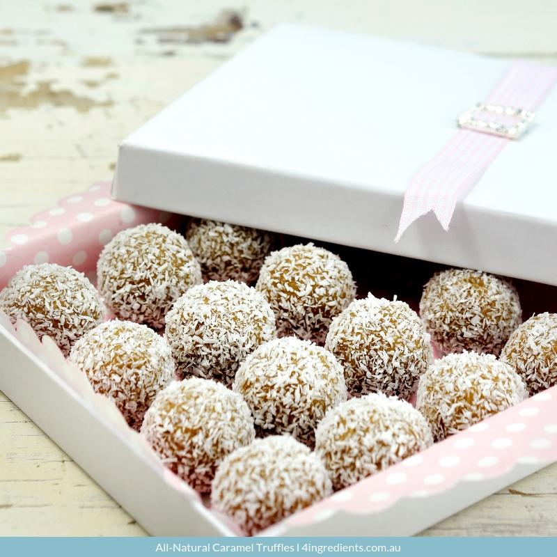 All-Natural Caramel Truffles