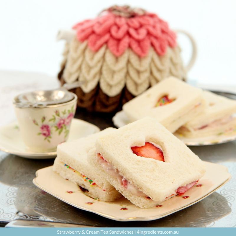 Strawberry & Cream Tea Sandwiches