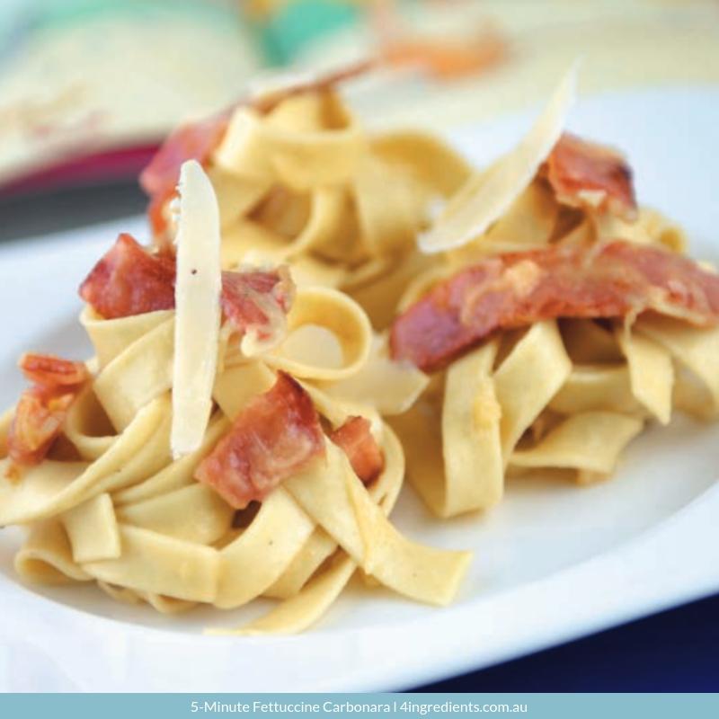 5-Minute Fettuccine Carbonara Family Dinner