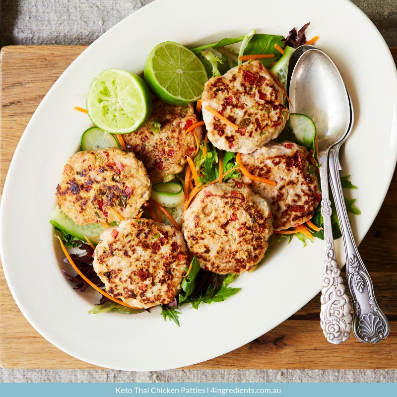 Keto Thai Chicken Patties