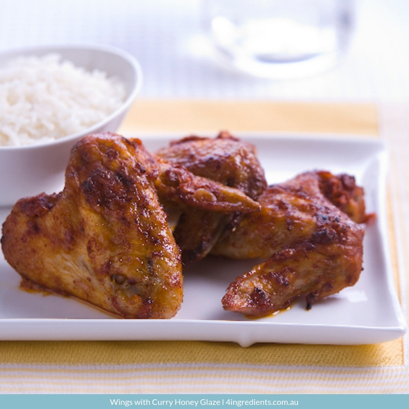 Wings with Curry Honey Glaze