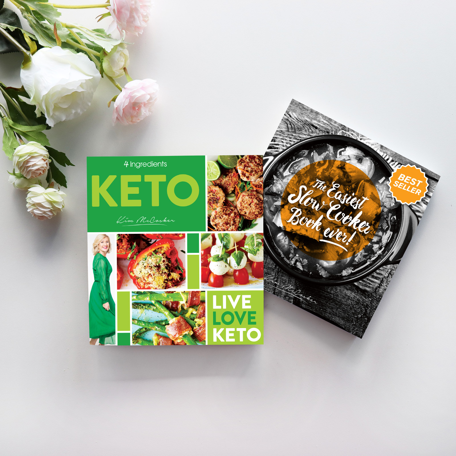 4 Ingredients Keto & The Easiest Slow Cooker Book Ever!