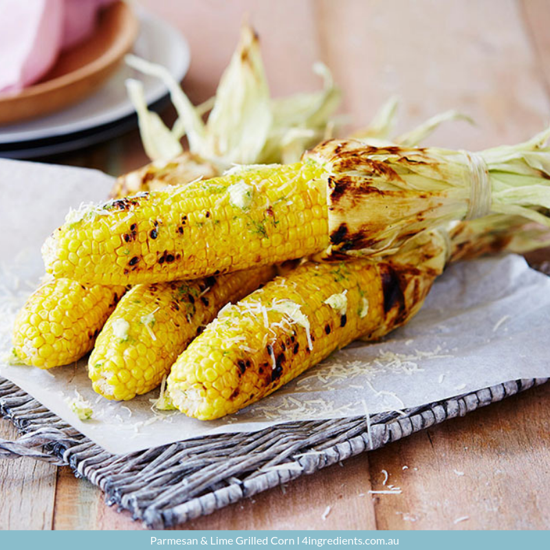 Parmesan and Lime Grilled Corn
