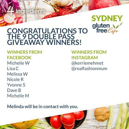 Sydney Gluten Free Expo Winners