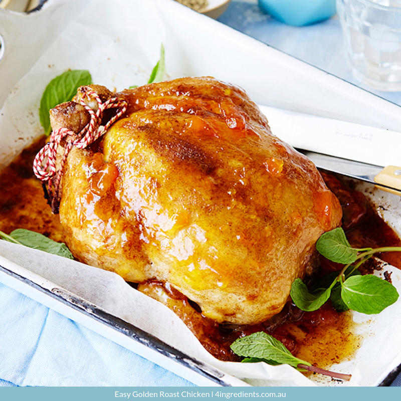 Easy Golden Roast Chicken