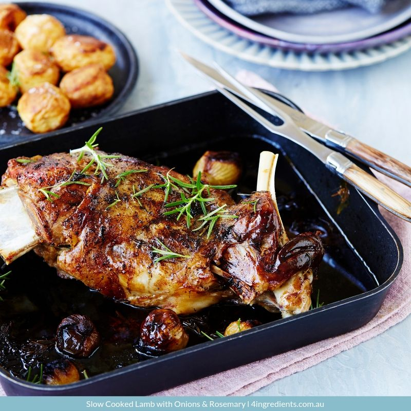 Slow Cooked Lamb with Onions & Rosemary