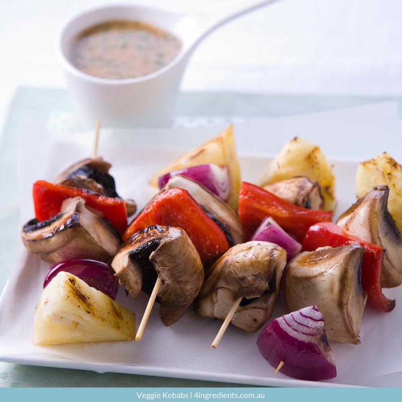 Veggie Kebabs vegetarian meal