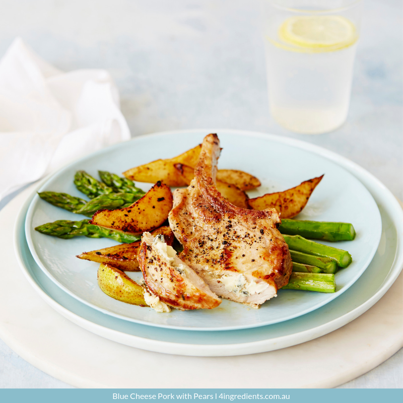 Blue Cheese Pork with Pears