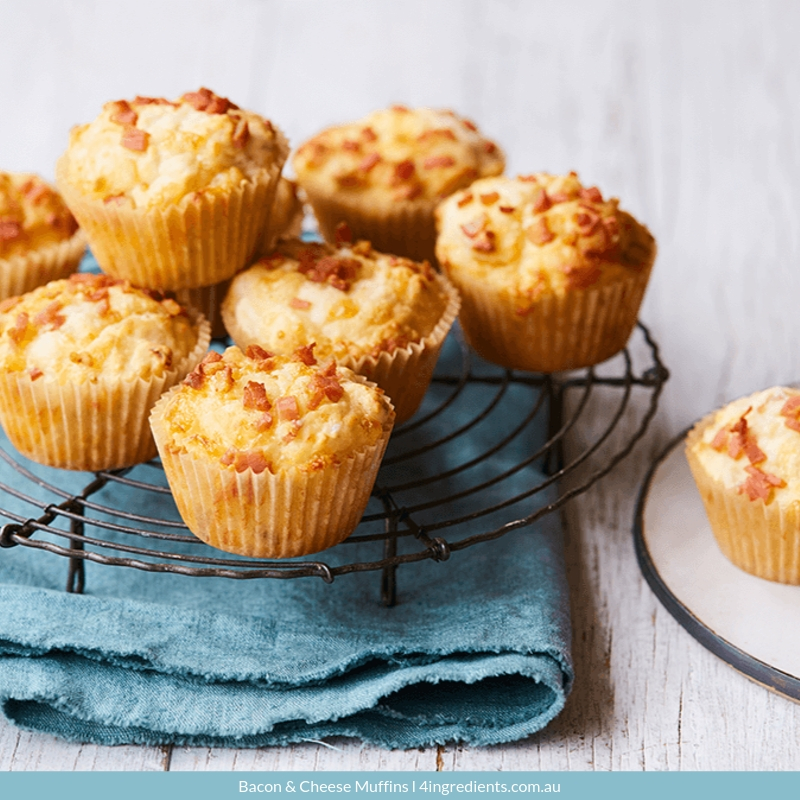 4ING l Recipe Image l Bacon & Cheese Muffins