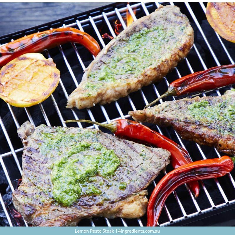 4ING l Recipe Image l Lemon Pesto Steak