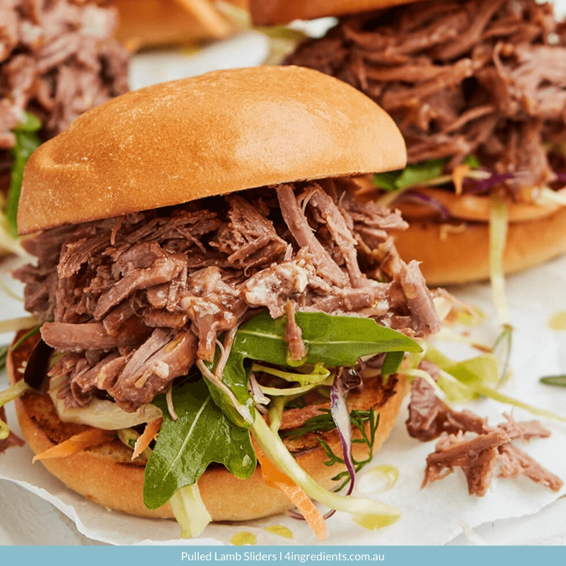 4ING l Recipe Image l Pulled Lamb Sliders