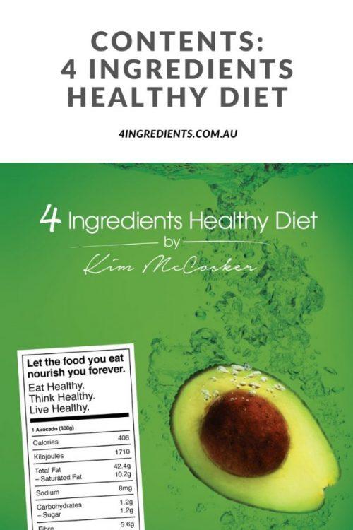 4 Ingredients Healthy Diet Contents