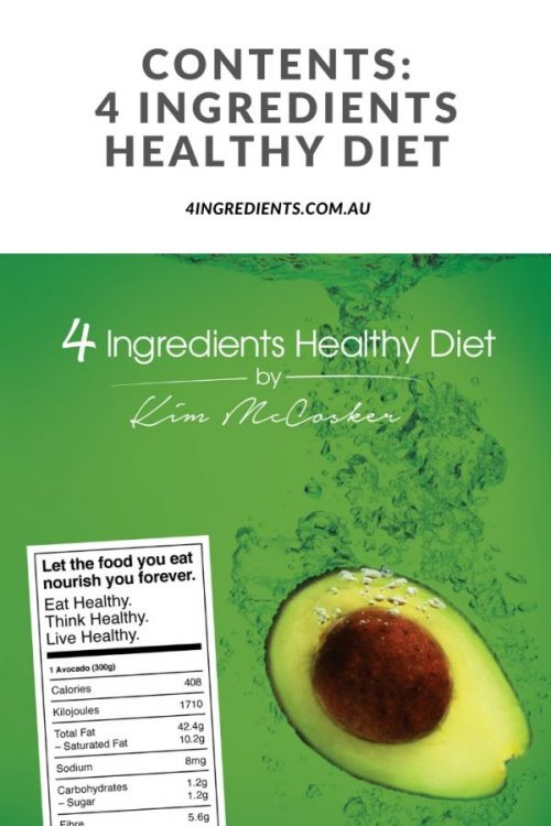 4 Ingredients Healthy Diet Contents