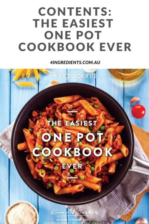 The Easiest One Pot Cookbook Ever Contents