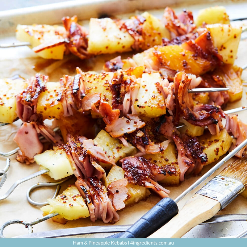 4ING l Recipe Image l Ham & Pineapple Kebabs