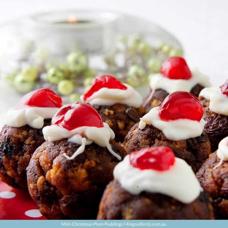 4ING l Recipe Image l Mini Christmas Plum Puddings