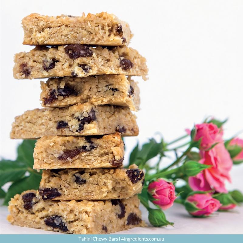 4ING l Recipe Image l Tahini Chewy Bars